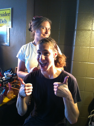 Jason Brown with Braider Deb