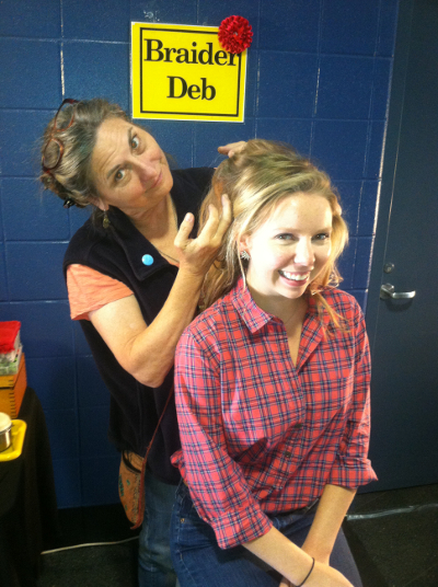 Rachael Flatt with Braider Deb